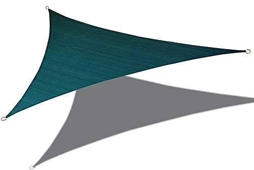 Alion Home 16'5'' x 16'5''x 16'5'' Triangle Waterproof Woven Sun Shade Sail in Vibrant Colors (Forest Green) ()
