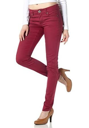 Arizona Stretch Jeans Damen Jeans Bordeaux Gr. 80 lang GB