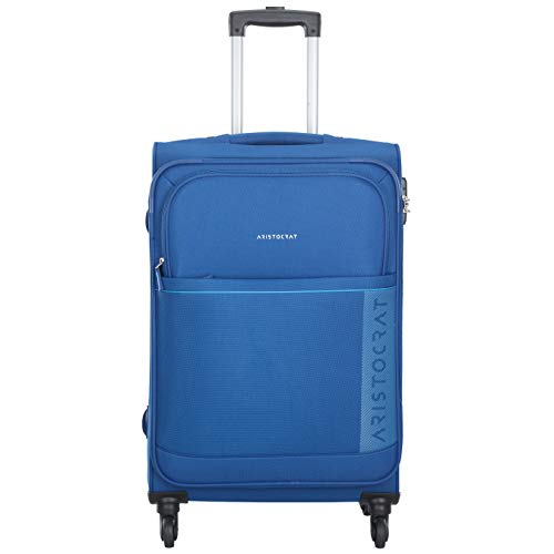 Aristocrat Polyester 69 cms Blue Softsided Check-in Luggage (Baleno)