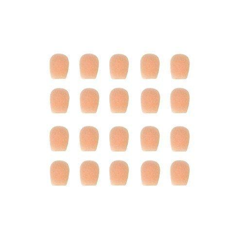 (EZProGear EZ10T-20 10mm Tan Color Mini Windscreen for Mini Headset Microphone (20 Pack))