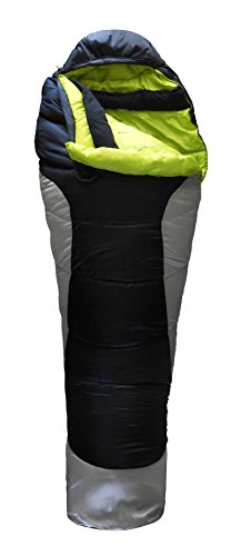 EMERICK DESIGNS Adult 3 Season 0 Degree Lightweight Mummy Sleeping Bag, 40oz Thermolite Insulation, Camping, Backpacking, Includes Compression Sack