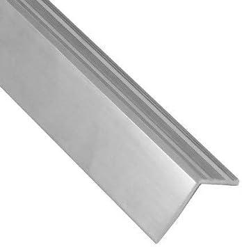Perfil de borde de escalera de aluminio – Plata – Diseño de ranura antideslizante – 25 x 25 x 900 mm – 1 pieza: Amazon.es: Bricolaje y herramientas