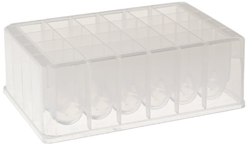 Whatman 7701-5102 Natural Polypropylene 24 Wells Uniplate Collection and Analysis Microplate with Round Well Bottom, 10mL Volume (Pack of 25)
