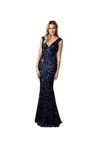 5a36cef59 Mujer Vestido Goddiva Azul Mangas Para Sin Marino FIx8qdZ