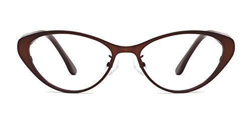 [TIJN Super Inspired Mod Fashion Cat Eye Glasses Clear Lens Eyewear Frame] (Clear Cat Eye Glasses)