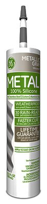 GE Silicone II Window and Door Silicone Sealant, 9.8 oz, Cartridge, Aluminum, Paste by GE SEALANTS & ADHESIVES