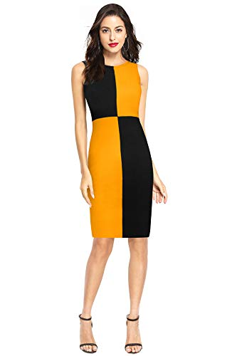 FEEL CLOSE LIVE CLOSE Women's Bodycon Knee Length Dress