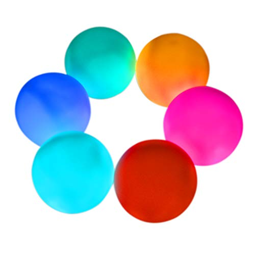 "Aokely LED Ball Light 3"" Floating Pool Light(Pack of 6), Waterproof Mood Lamp, 7 Colored LED Pool Ball Lights, Decorative Ball for Parties, Holiday Home Decor"