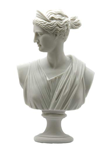 (greekartshop Artemis Diana Bust Head Greek Roman Goddess Statue Sculpture 11.8΄΄)