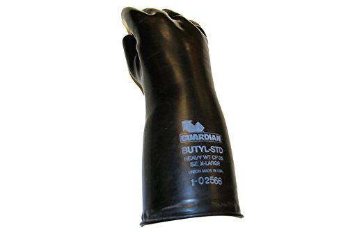 Guardian CP-25 Butyl Coated Smooth Finish Short Glove 25 Mil Size Medium(1 Pair) Made in USA! by Guardian