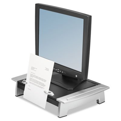 Monitor Riser, Height/Tilt Adjustable, Storage Drawer, Copyholder, Sold as 1 Each by Fellowes