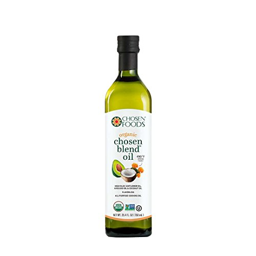 Chosen Foods Organic Chosen Blend Oil 25.4 oz, Non-GMO, High-Heat Frying, Baking, Cooking, 490° F Smoke Point by Chosen Foods
