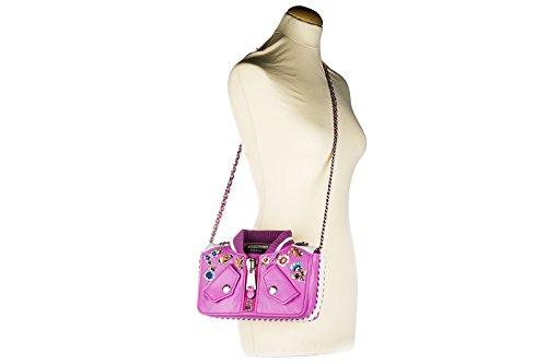 Moschino sac à l'épaule femme en cuir fuxia