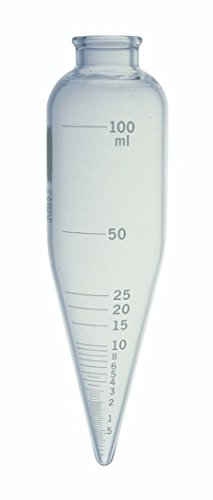 - Kimble 45243-100 Glass 100mL Oil Short Cone Centrifuge Tube for Petroleum Field Testing, Calibrated 'To Contain', 6