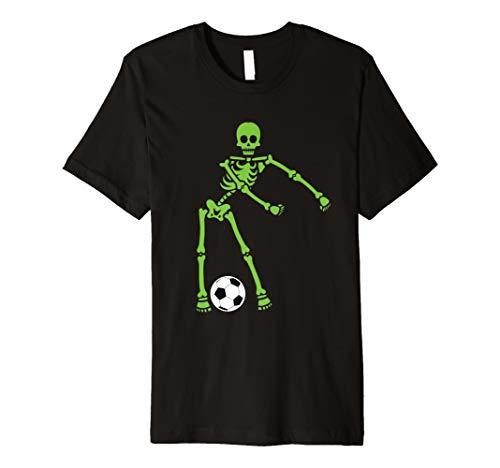 Green Skeleton Soccer Halloween Shirt Flossing Dance Costume -