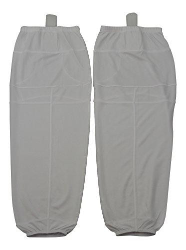 Mesh Dry-fit Hockey Socks Adult and Youth Sizes (White, Medium)