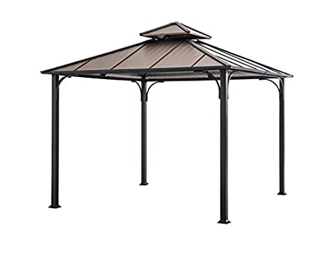 Sunjoy 10 X 10Hardtop Gazebo Faux Copper Top