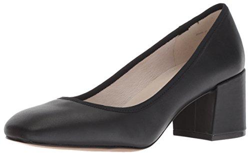 (Kenneth Cole New York Women's Eryn Low Heel Square Toe Dress Pump, Black Leather, 6 M US)