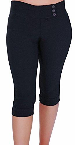 Eye Catch Panama Ladies Pedal Pusher Capri Crop Pants Ladies 3/4 Trousers US (Pedal Crop)