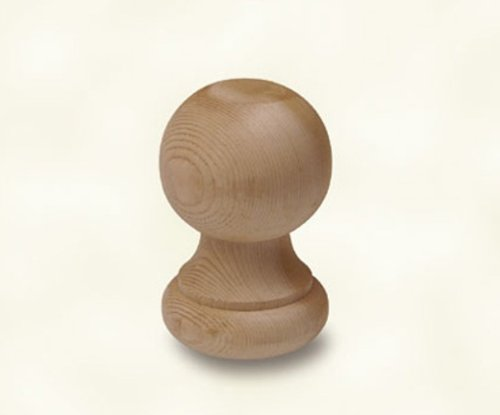 Woodway Finial Post Cap Decorative Cedar Wood Ball for Fence Posts, Deck, and Patio Railings, 3 Inch Diameter (Deck Railing Caps)