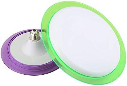 Lights Bulbs E27 40W 5000K Household Workshop Energy-Saving Colorful LED UFO Light Bulb