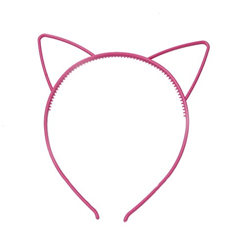 StarShine Kids Plastic Headband with Cat Ear Pattern Hair Ba