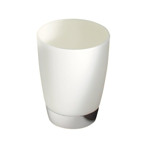 InterDesign Aria Bath Collection, Tumbler Cup for Bathroom Vanity Countertops - Clear/Chrome