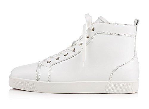 ZXD Dusky -Zapatillas Altas en Blanco o Negro Piel Vegana Cordones Casual Unisex Elegantes Blanco