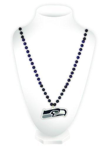 NFL Seattle Seahawks Team Logo Mardi Gras Style
