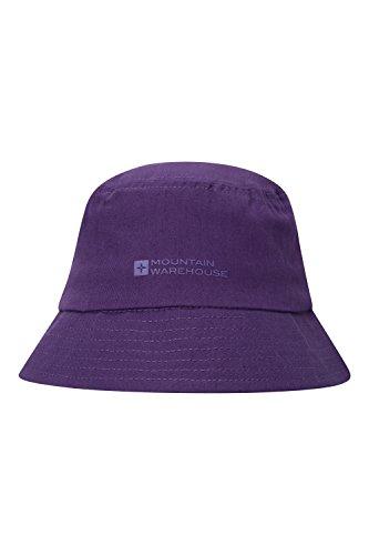 [Mountain Warehouse Cotton Bucket Hat Festival Headwear Purple] (Pork Pie Hat For Sale)
