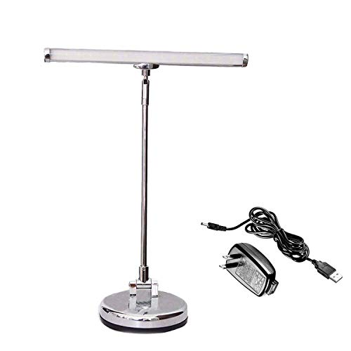 Bravodeal Led Lamp for Upright Piano, Desk Lamp, LED Light for Home and Office,Ultra Bright With Adapter, USB Cable (Chrome)