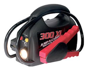 Battery Booster 900 Peak Amps - Ultra-Portable 900 Peak Amp Battery Booster Automotive and Truck Jump Starter SOLJNC300XL