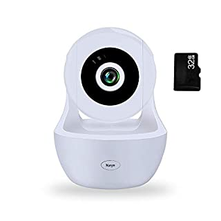 WiFi Camera1080P HD Wireless Night Vision Camera, Pet Monitoring IP Camera, Cloud Service, Remote Detect for iOS/Android,Built-in 32G Memory Card