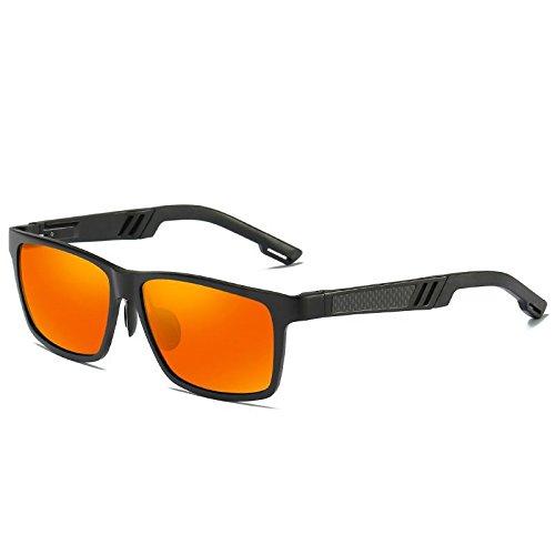 Driving Party Sol Uv400 Confort Candy LANZHI Hombre Orange Personalidad Super Beach Color yellow Gafas Pilot de Clásico Blue Ice Deportes Moda qwZnA4nSx
