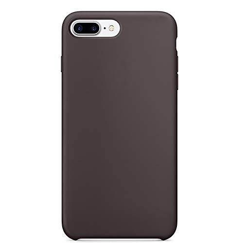 iPhone 8 Plus(5.5 inch) Zero Point Liquid Silicone case, Lined with Ultra-Fiber Flocking to Protect The Back of The Phone wear, Shock and Shock All-Round Protection of Mobile Phones (Cocoa)