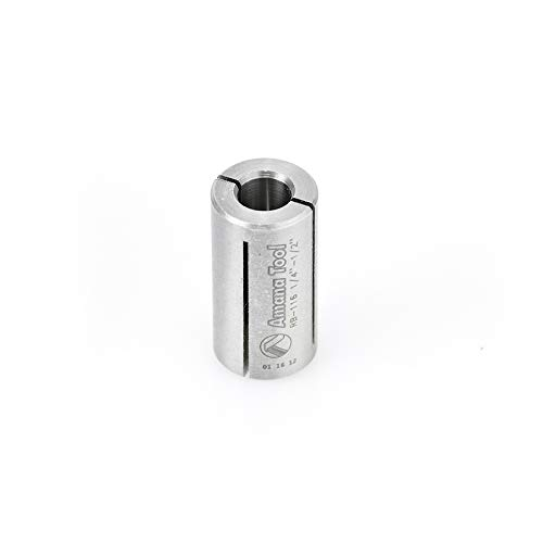 Amana Bushings - Amana Tool - RB-116 High Precision Steel Router Collet Reducer 1/2 Overall Dia x 1/4 Inner