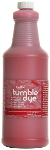 Sew Easy Industries Tumble-Dye Bottle, 1-Quart, Sports Red by Sew Easy Industries