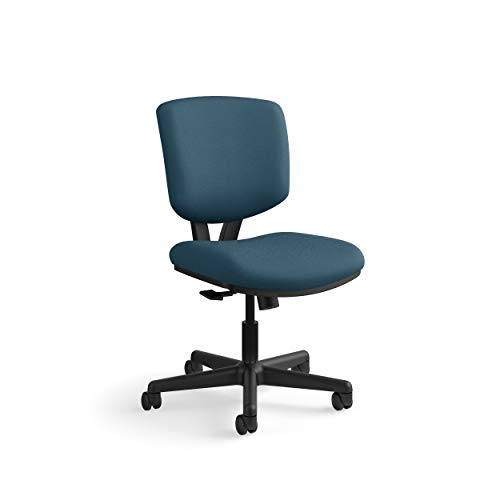 The HON Company GA90.T HON Volt Task Armless Office Chair for Computer Desk, Navy/Blue (H5703), Synchro-Tilt