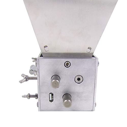 HFS (R) Grain Mill with 11 lb. Hopper and 3 Rollers,Stainless Steel Three Roller Malt Mill by HFS (Image #4)