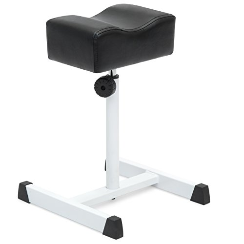 Best Choice Products Pedicure Manicure Footrest Stool for Spa, Salon w/Seat Height Adjustment - Black/White
