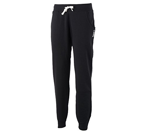 Reebok AJ2787 Women's Elements French Terry Cuffed Athletic Pants, Black - S