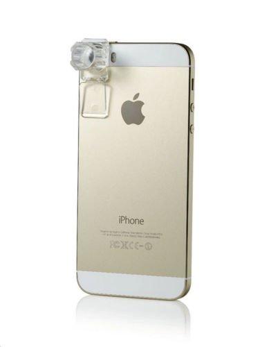 Efanr® Mini Portable 200X Zoom Mobile Phone Camera Microscope Lens Magnifier Digital Magnification Automatic Focusing for Andriod & IOS Smartphones Tablet PC Apple iPhone 6 Plus/6/5/5S/5C/4/4S, iPad Air 2/1, iPad 4/3/2, iPad Mini 3/2/1, Samsung Galaxy S6