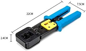 HYY-YY RJ45 Crimper Tools For Cat5e Cat6 Cables RJ45 Connector Plugs 6P8P Crimping Tool Eye Pliers Tools