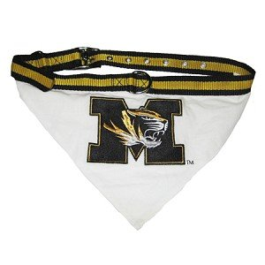 Missouri Tigers Bandana and Leash Set Size Medium