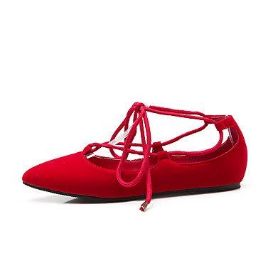 Cómodo y elegante soporte de zapatos de las mujeres pisos comodidad de primavera verano otoño correa de tobillo forro polar oficina y carrera Athletic Casual soporte de talón cordones negro azul rojo  azul