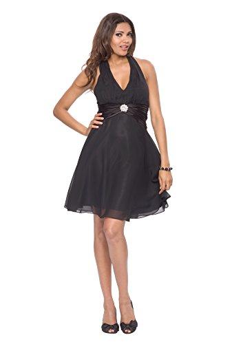 Astrapahl, Vestido para Mujer Negro (Schwarz)