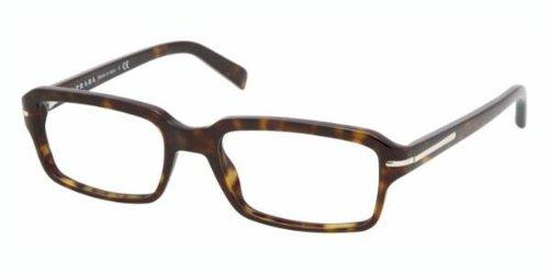 d50f7c01a0e1 Amazon.com  Prada Pr09nv Eyeglasses 2au1o1 Havana Demo Lens 52 17 ...