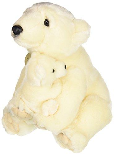(Aurora World Miyoni Polar Bear with Cub Plush, 14