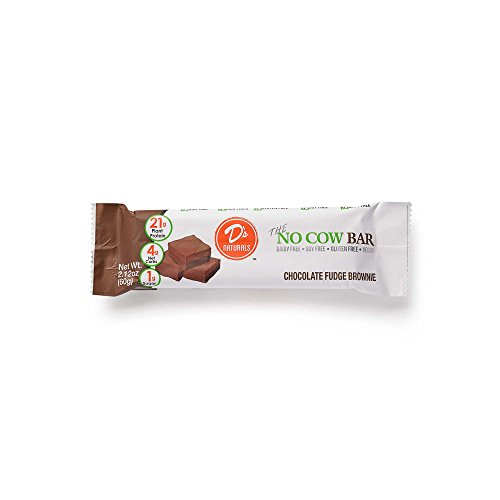 D's Naturals No Cow Bar, Chocolate Fudge Brownie, 12 Count