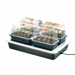 4 mini serre chauffante FAB4-38, 5 x 24 x 17, 5 cm - Garland germination-bouturage